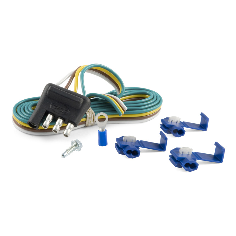 Curt 58349 4-Way Flat Connector Plug with 48