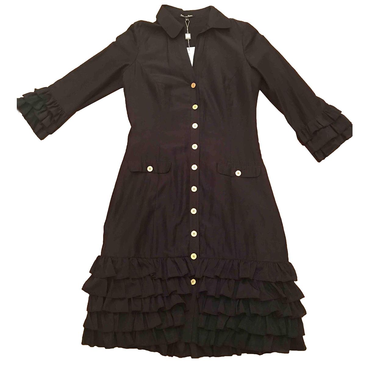 Pedro Del Hierro \N Kleid in  Schwarz Baumwolle