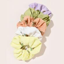 5 Stuecke Haarklammer mit Blumen Muster