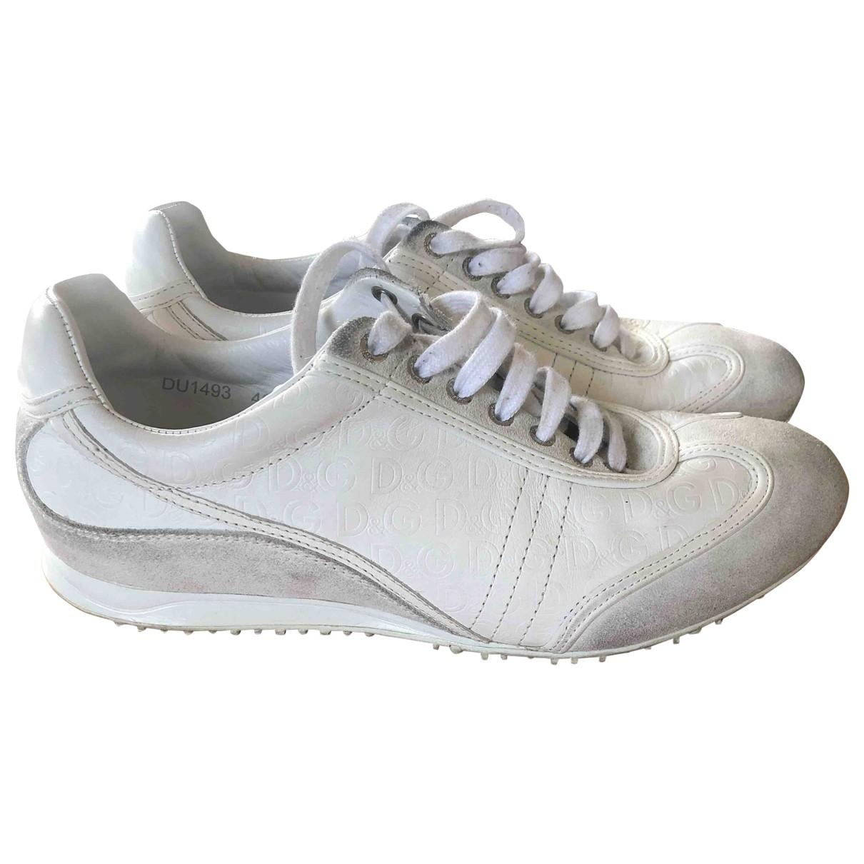 D&g - Baskets   pour homme en cuir - blanc