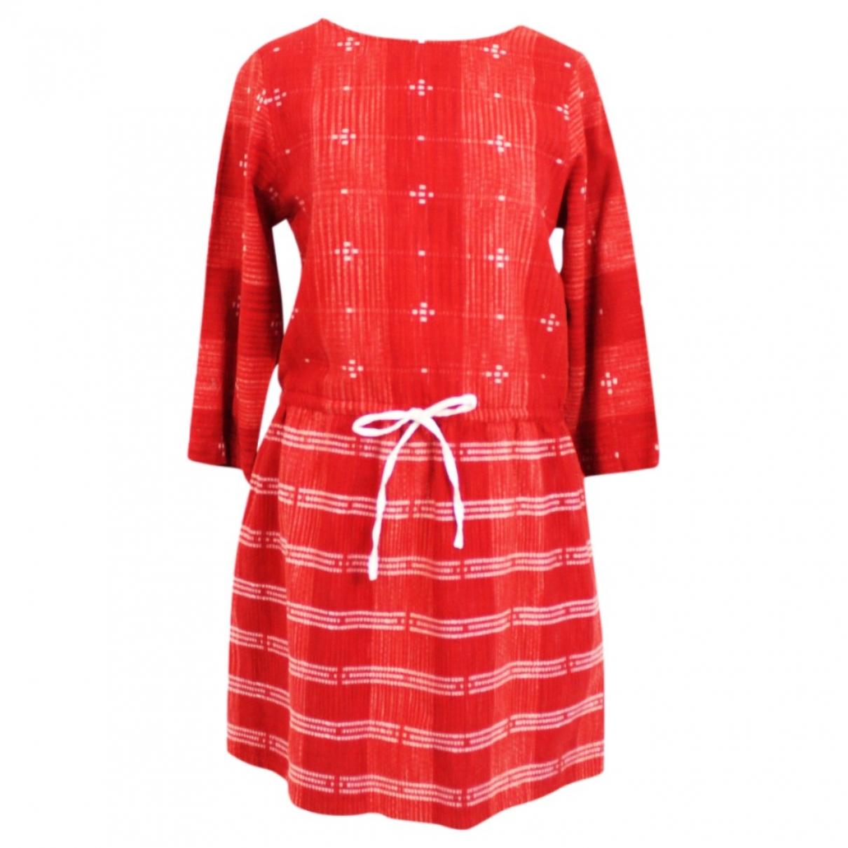 Ace & Jig \N Kleid in  Rot Baumwolle