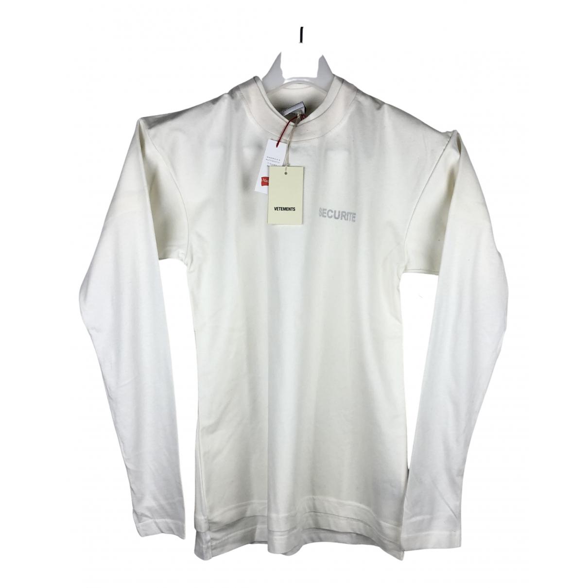 Vetements N White Cotton T-shirts for Men S International