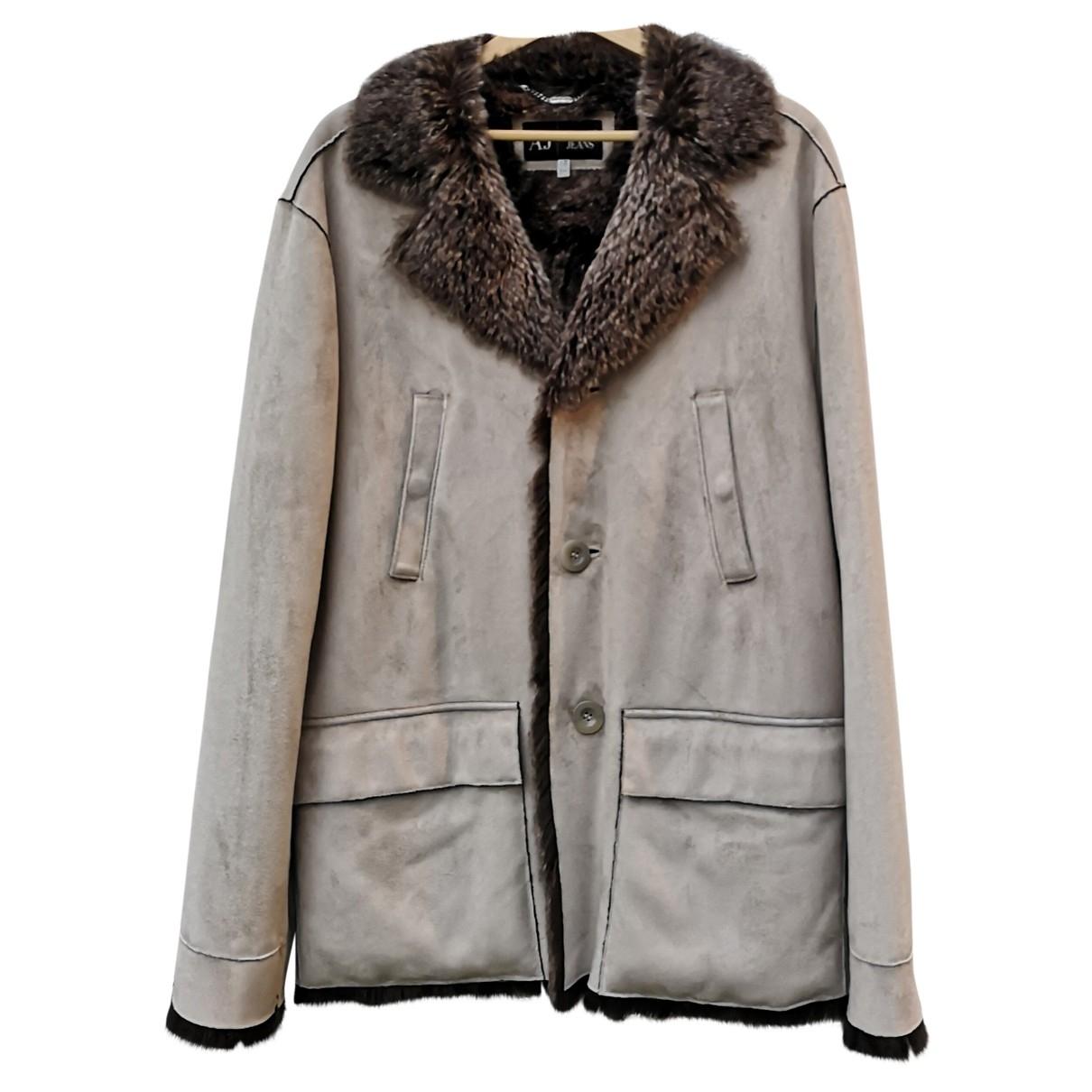 Armani Jeans \N Maentel in  Grau Synthetikpelz