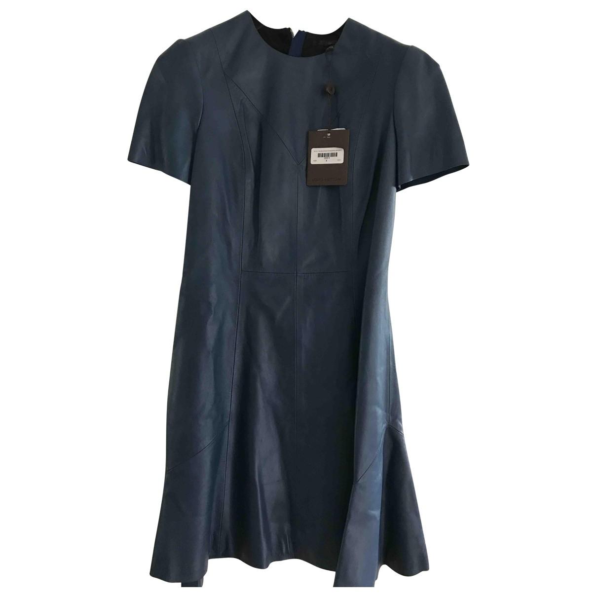 Louis Vuitton \N Kleid in  Blau Leder