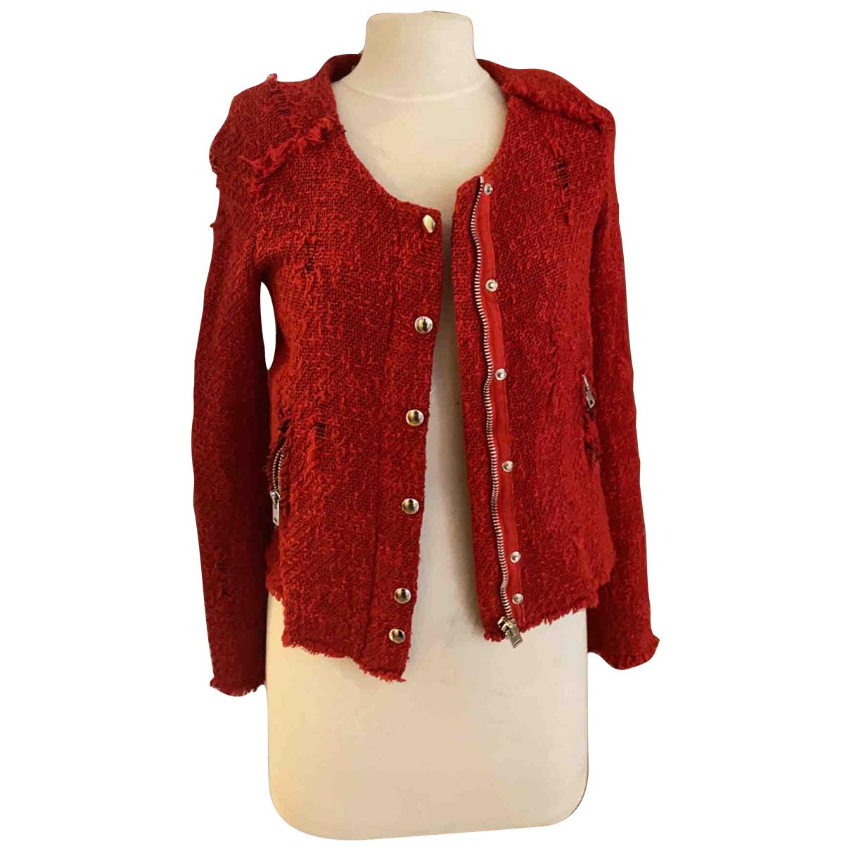 Iro - Veste   pour femme en tweed - rouge