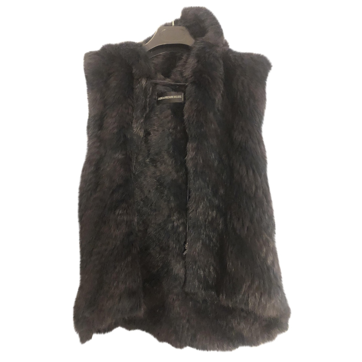 Zadig & Voltaire - Manteau   pour femme en lapin - bleu