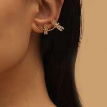 Dragonfly Design Ear Cuff