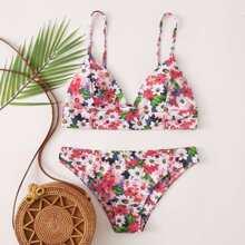Sets de bikini Floral Multicolor Dulce