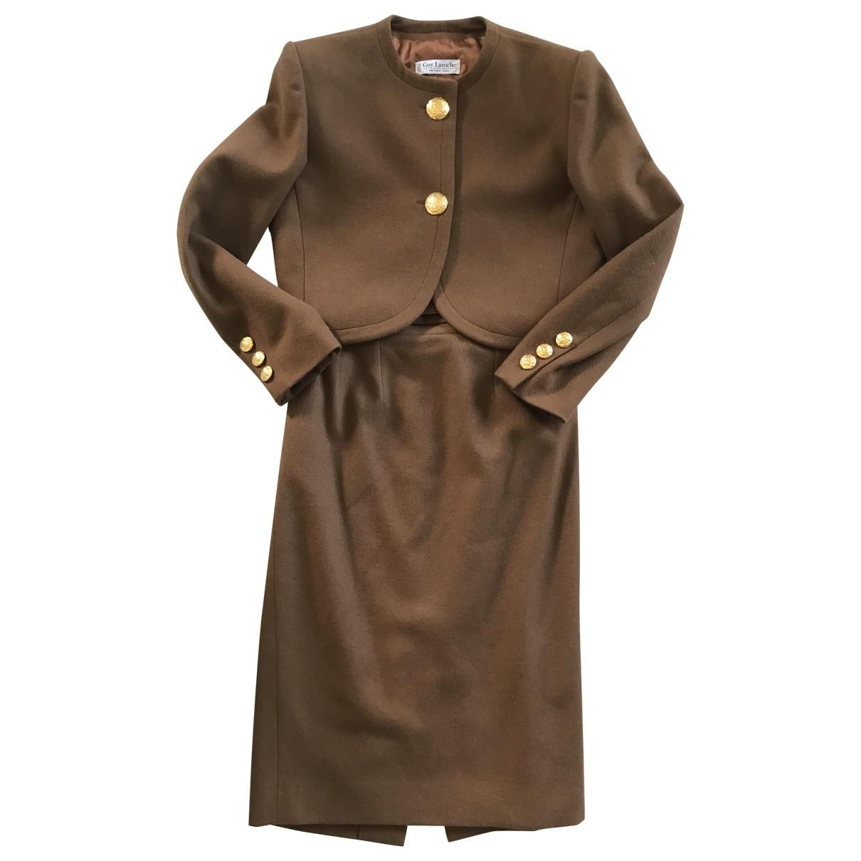 Guy Laroche - Robe   pour femme en laine - marron