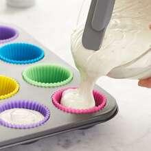 12 Stuecke Silikon zufaellige Farbe Kuchenform