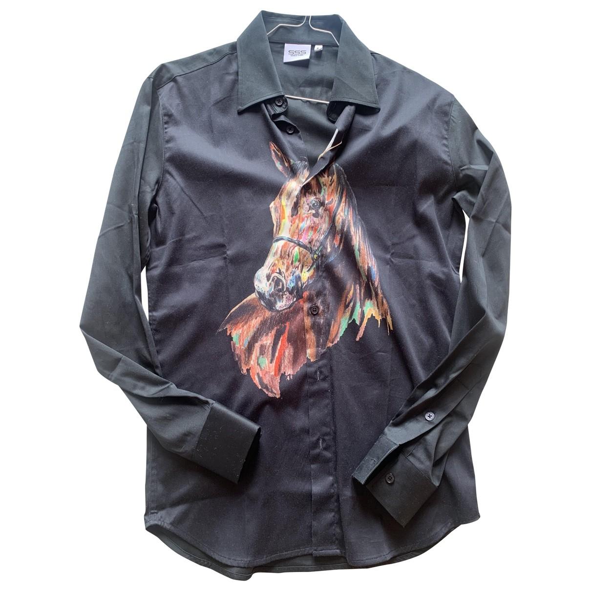 Sss World Corp \N Black Cotton Shirts for Men S International