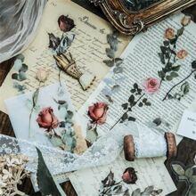 10 Stuecke Zufaelliger Aufkleber mit Blumen Muster