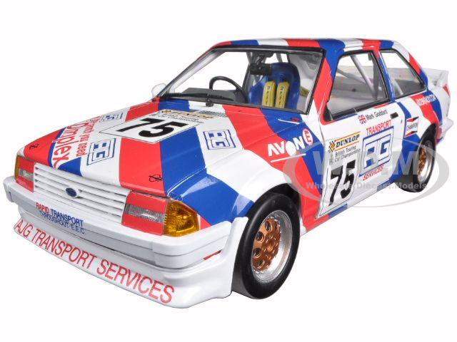 1988 Ford Escort MkIII RS1600i 75 Mark Goddard British Touring Championship 1/18 Diecast Model Car by Sunstar