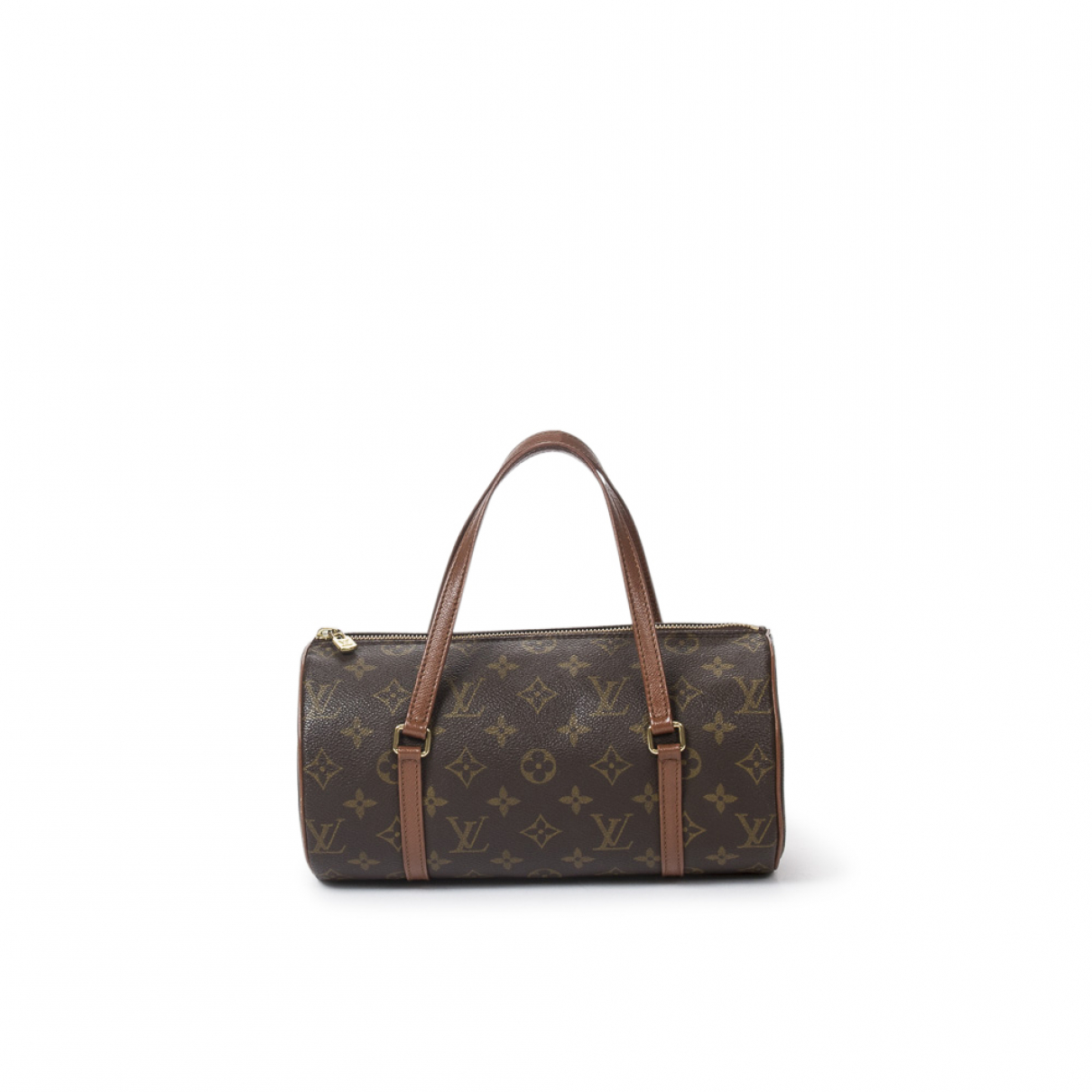 Louis Vuitton Papillon Handtasche in  Braun Baumwolle