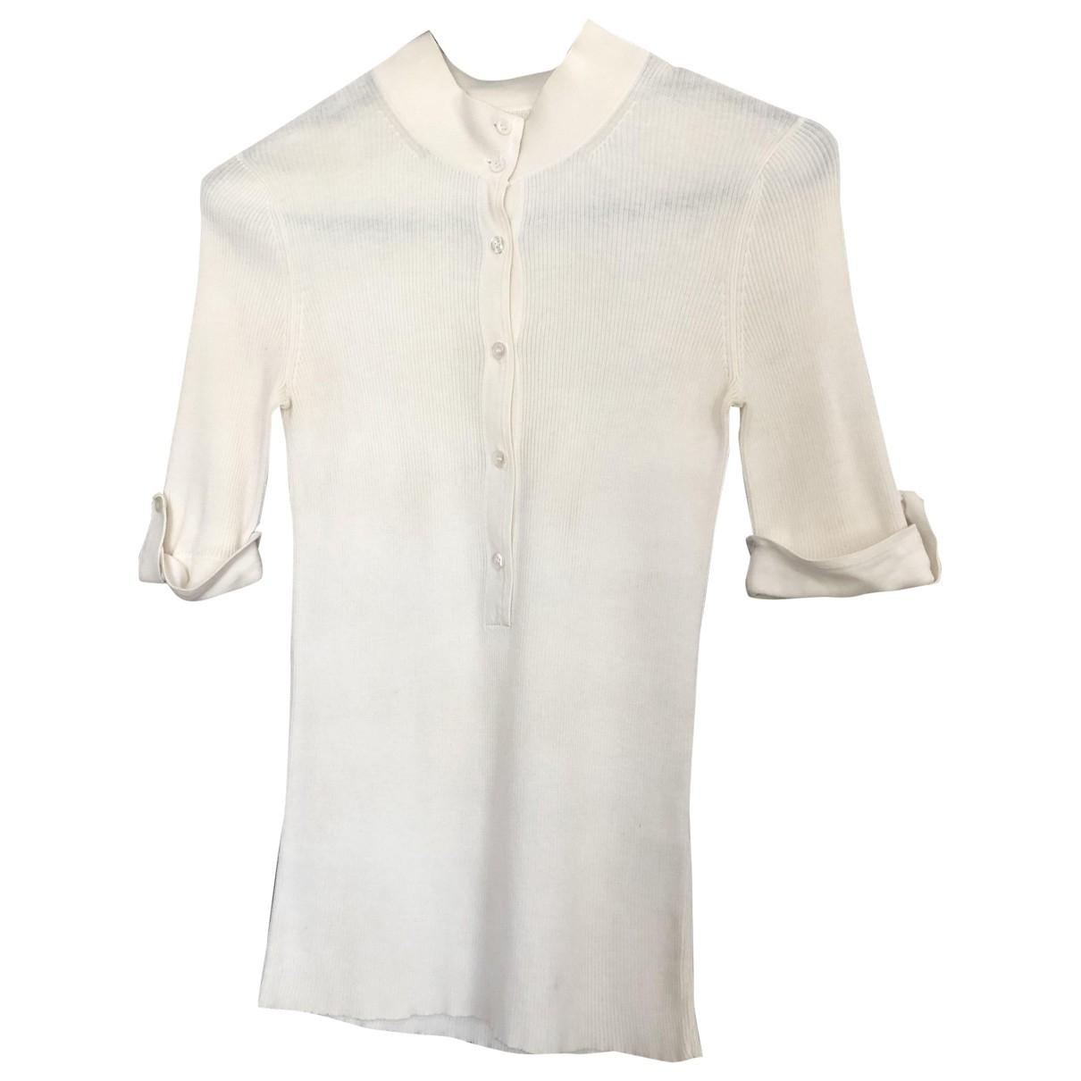 Boss - Top   pour femme en coton - ecru
