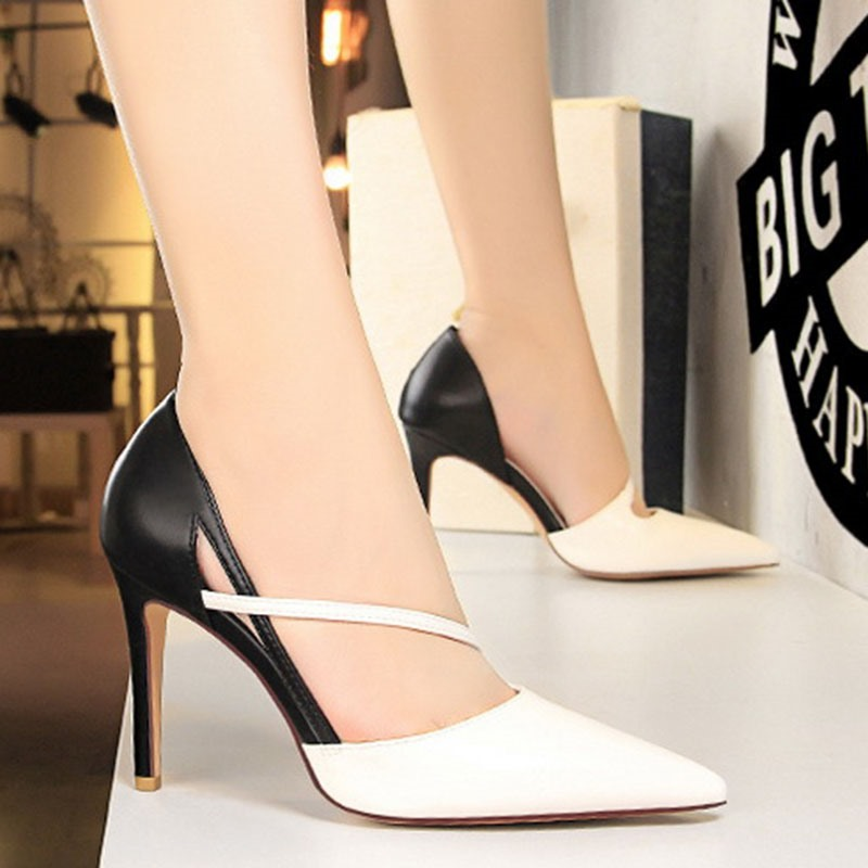 Ericdress Pointed Toe Slip-On Stiletto Heel Banquet Thin Shoes