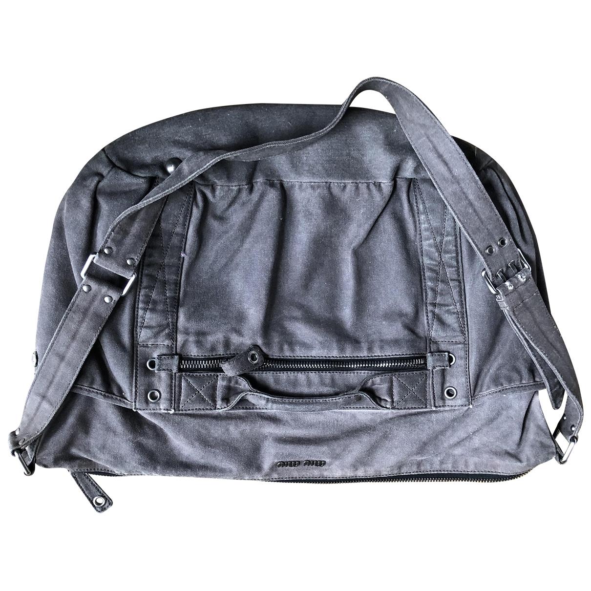 Miu Miu \N Green Denim - Jeans handbag for Women \N