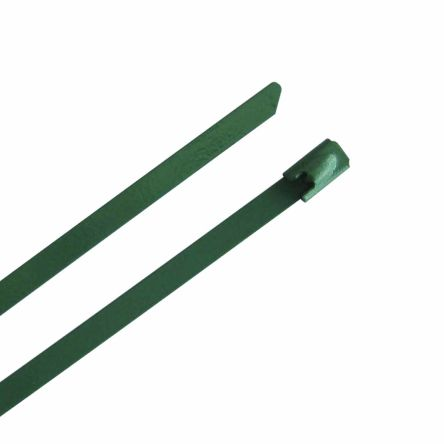 RS PRO Green 316 Stainless Steel Ball Lock Cable Tie, 150mm x 4.6 mm (100)