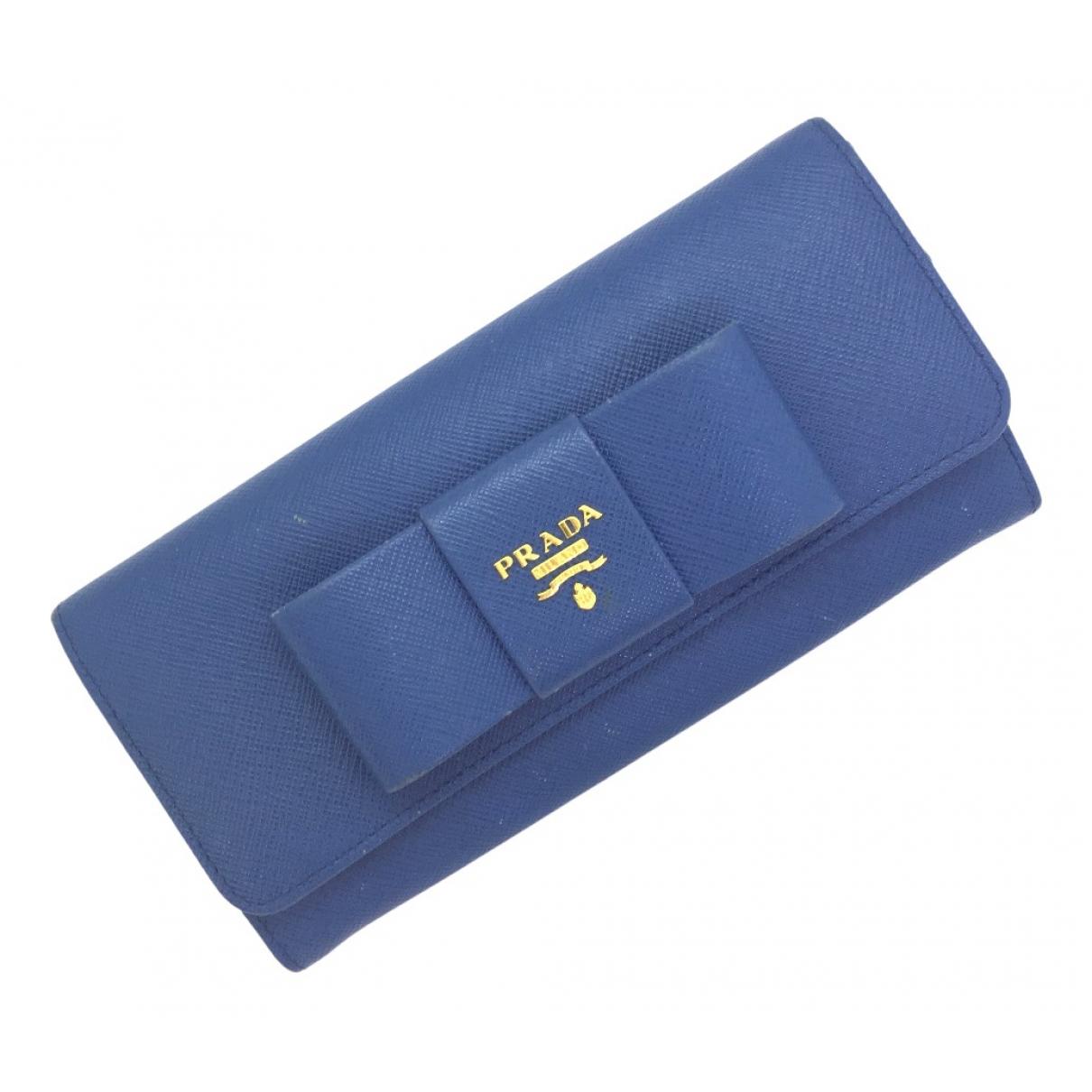Prada N Blue Leather wallet for Women N