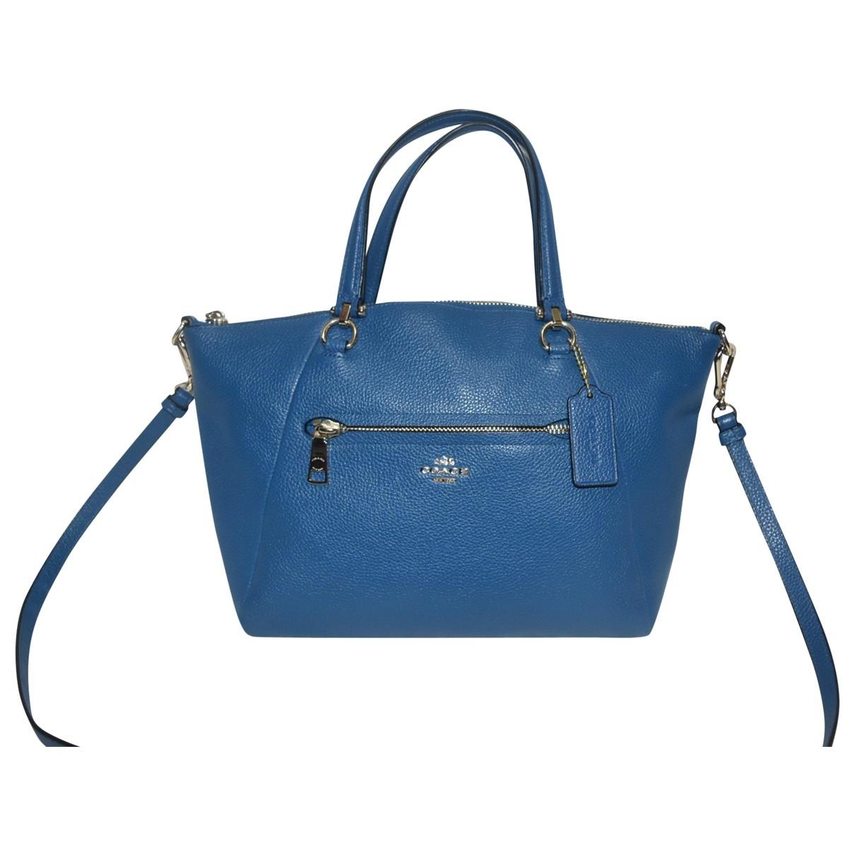 Coach Prairie Satchel Handtasche in  Blau Leder