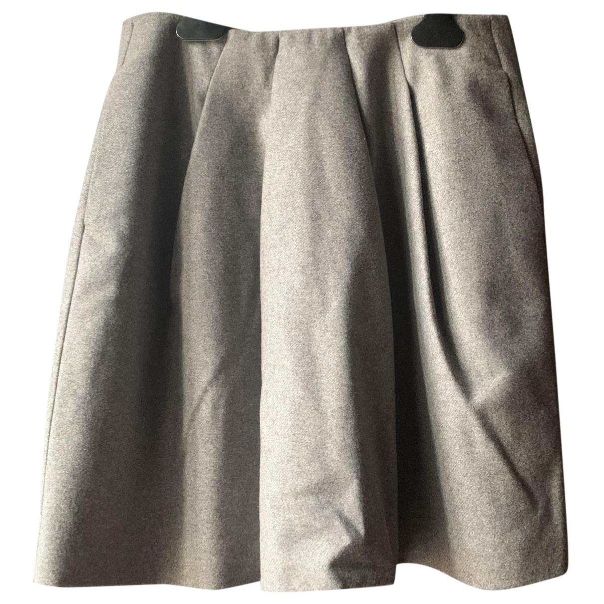 Emporio Armani N Grey Wool skirt for Women 42 IT
