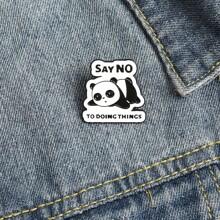 Brosche mit Karikatur Panda Dekor