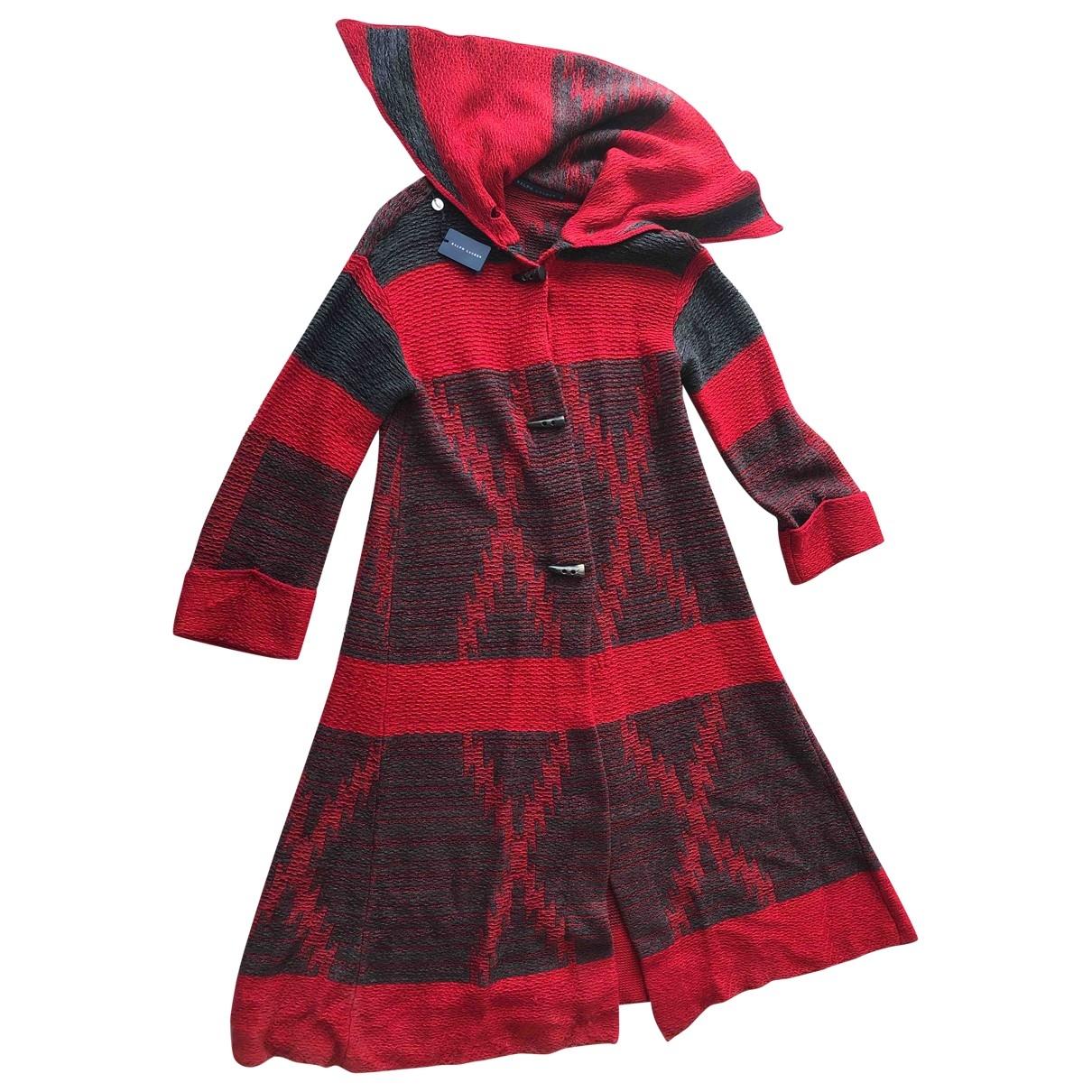 Ralph Lauren \N Red Wool coat for Women 38 FR