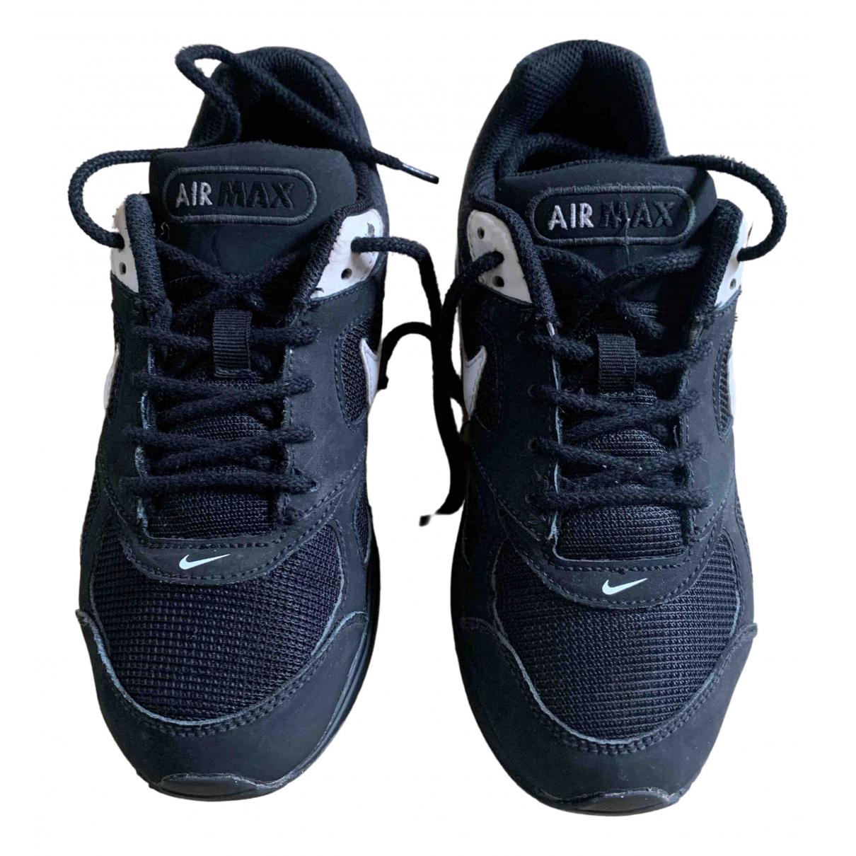 Nike - Baskets Air Max  pour femme en cuir - noir