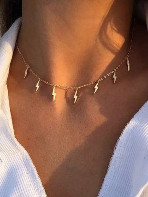 Chain Lightning Collarbone Necklace