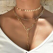 3pcs Simple Chain Necklace