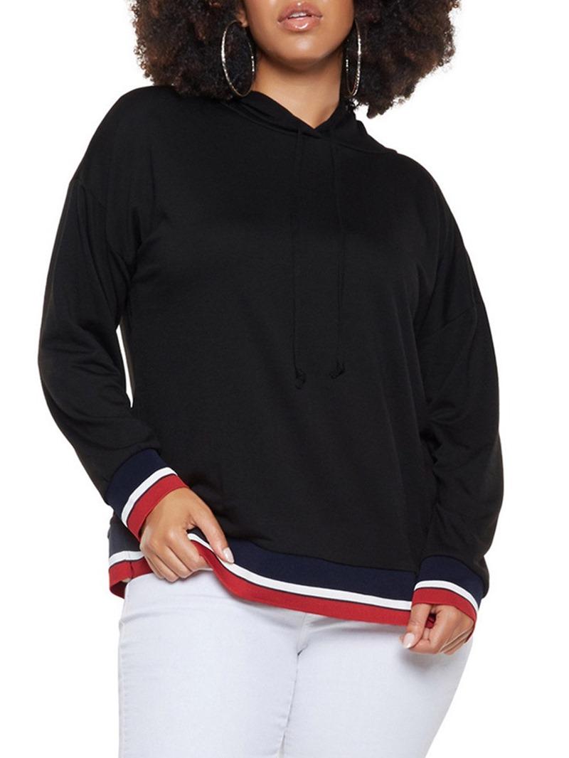 Ericdress Regular Stripe Hooded Fall Hoodie