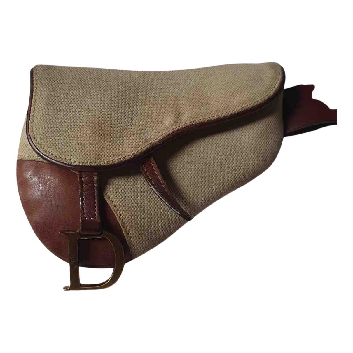 Dior Saddle Brown Cloth Clutch bag for Women N