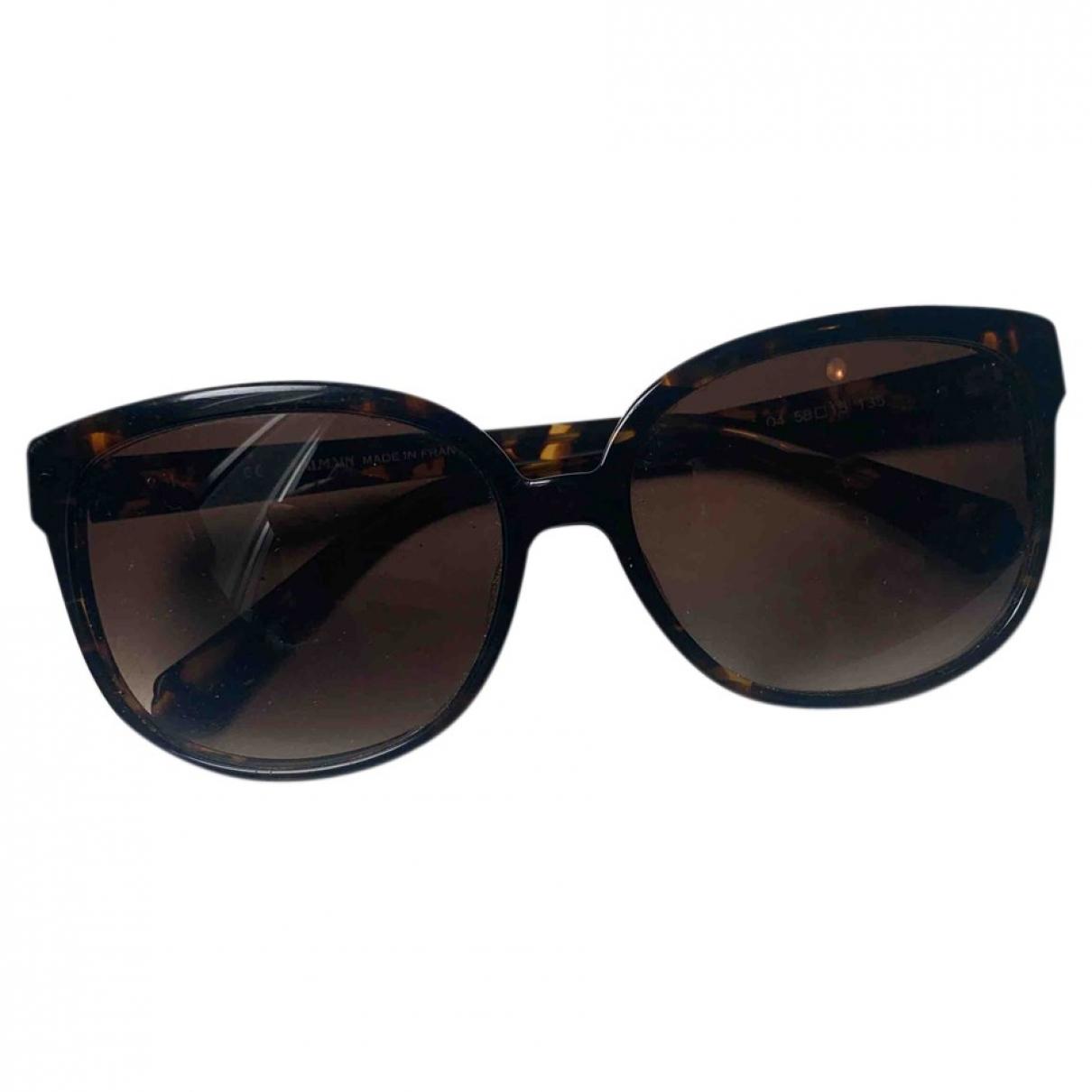 Balmain \N Sonnenbrillen in  Braun Kunststoff