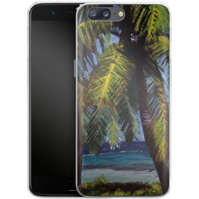 OnePlus 5 Silikon Handyhuelle - Palms von Kaitlyn Parker