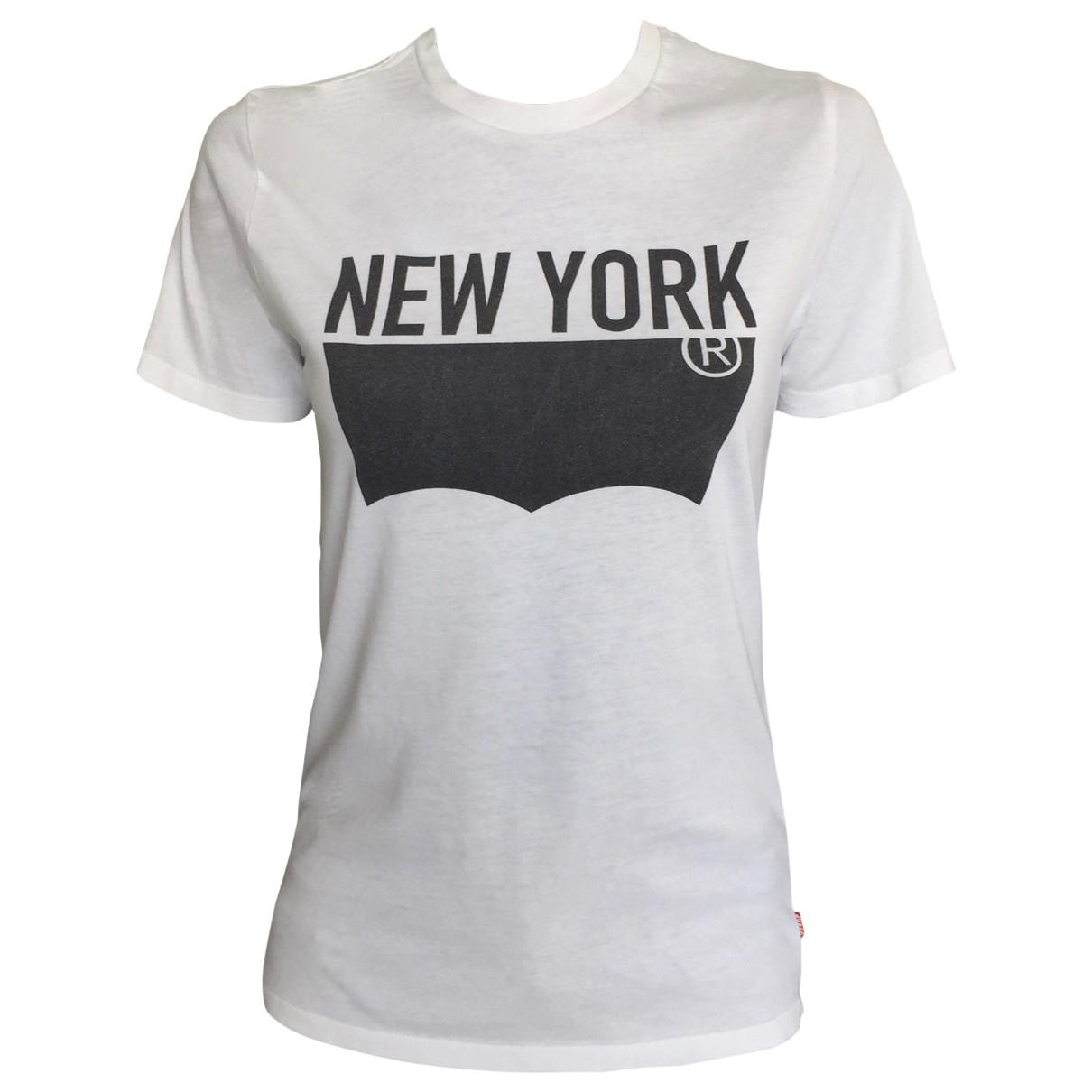 Levis - Top   pour femme en coton - blanc