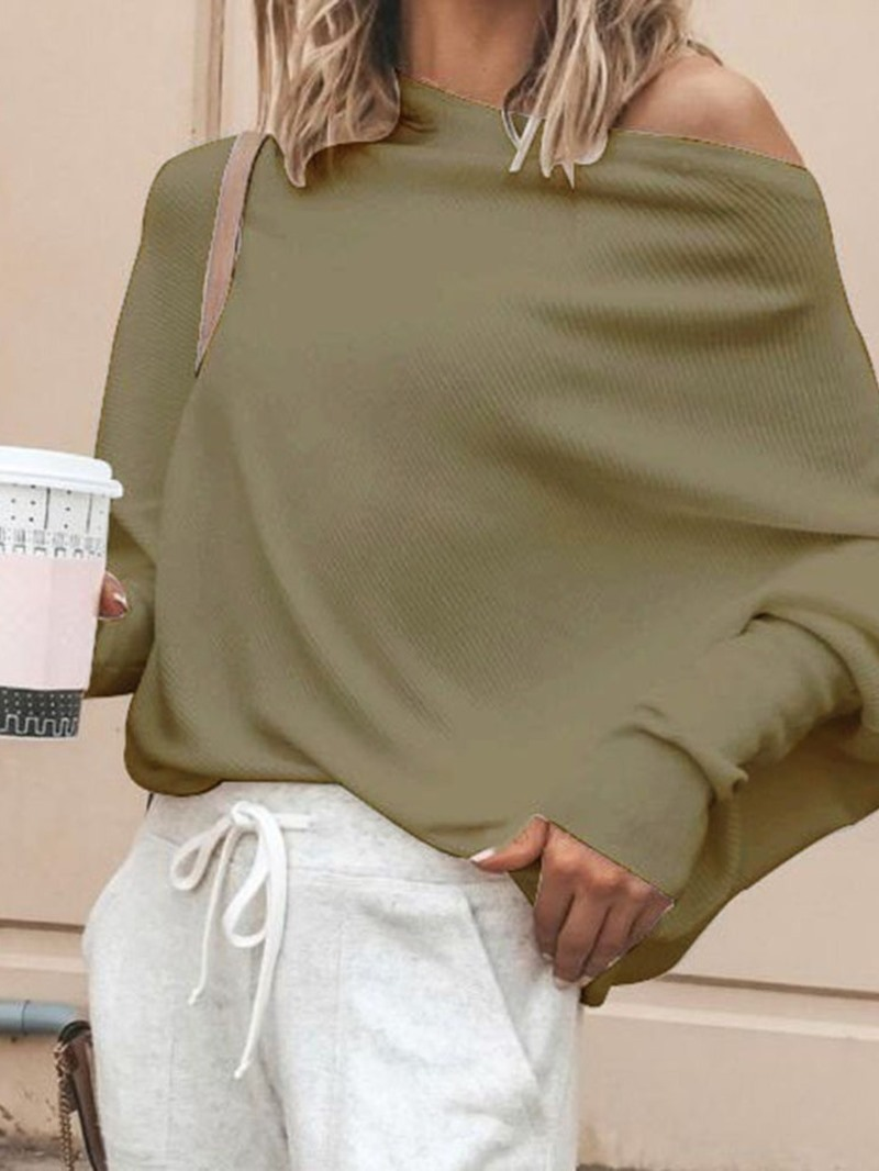 Ericdress Batwing Sleeve Long Sleeve Standard Sweater