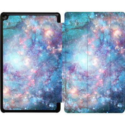 Amazon Fire HD 8 (2018) Tablet Smart Case - Abstract Galaxy - Blue von Barruf