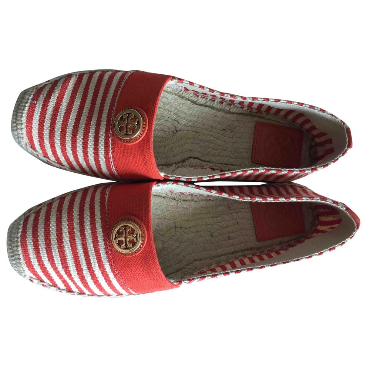 Tory Burch - Espadrilles   pour femme en toile - rouge