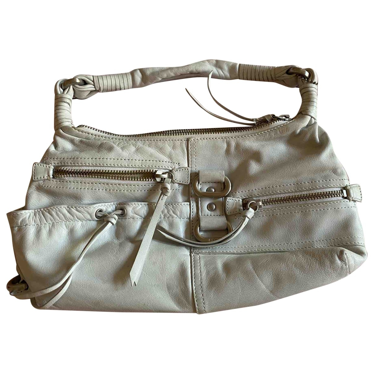Dkny \N Handtasche in  Weiss Leder