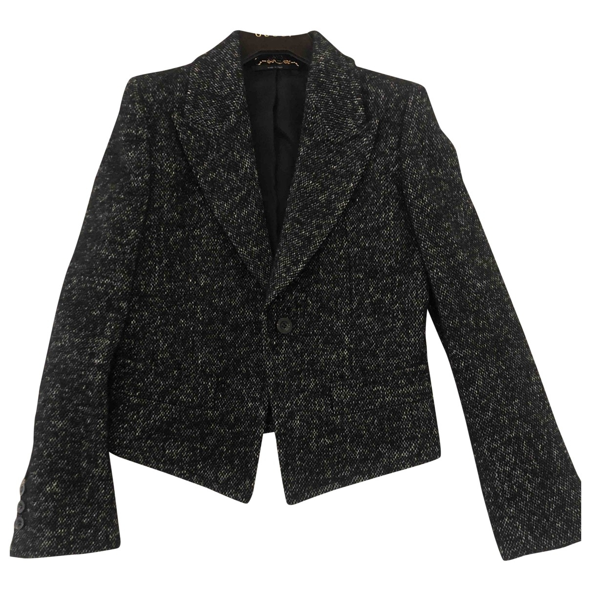 Gucci \N Jacke in  Anthrazit Wolle