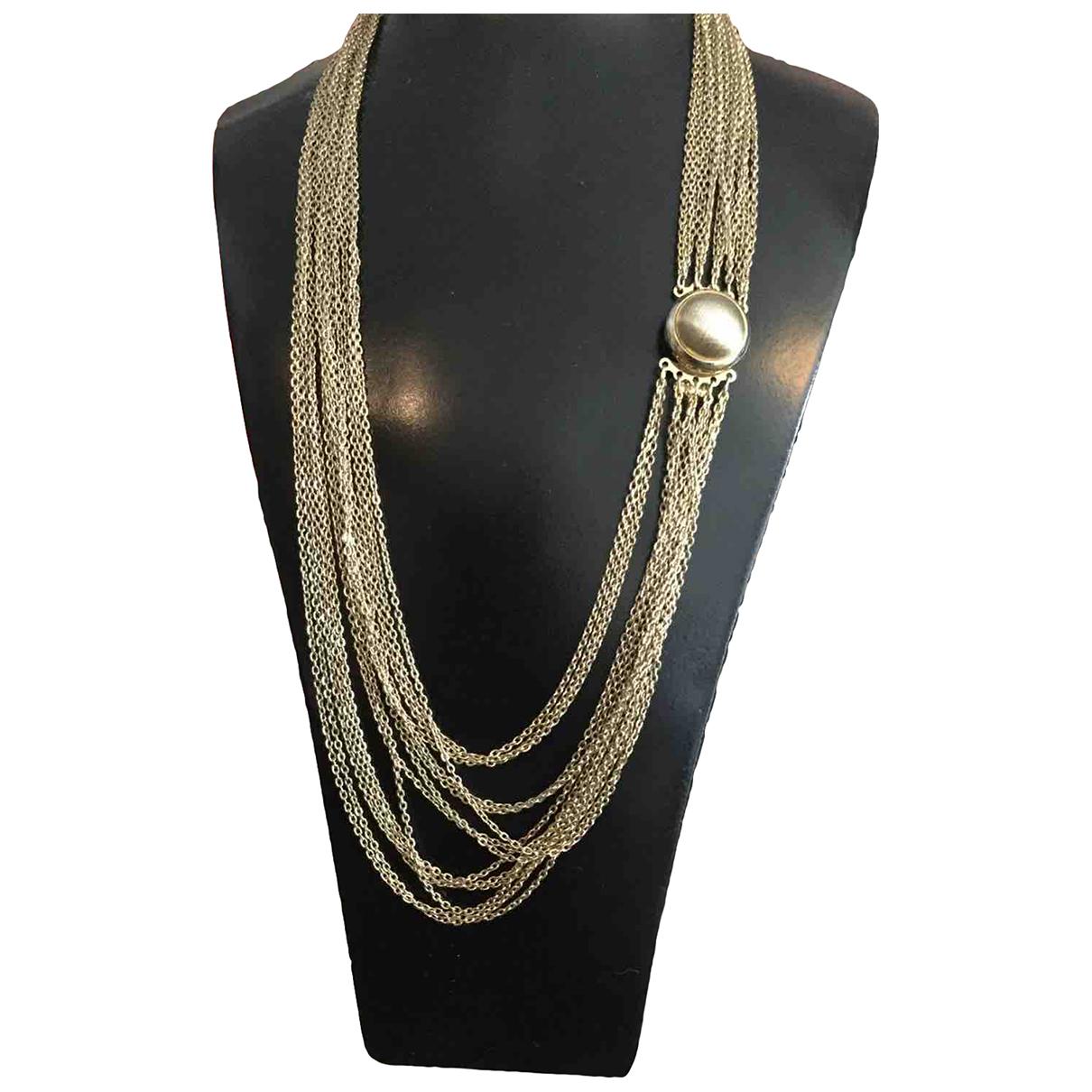 - Collier Art Deco pour femme en metal - dore