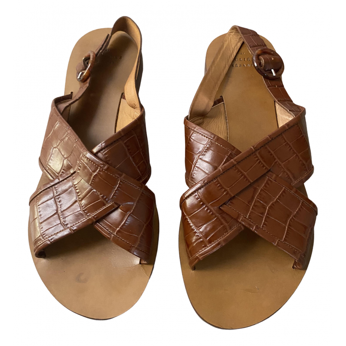 Sezane - Sandales Spring Summer 2020 pour femme en cuir - camel