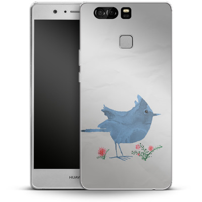 Huawei P9 Silikon Handyhuelle - Watercolour Bird White von caseable Designs