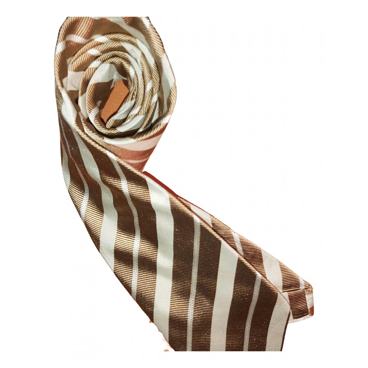 Ermenegildo Zegna \N Krawatten in  Gold Seide