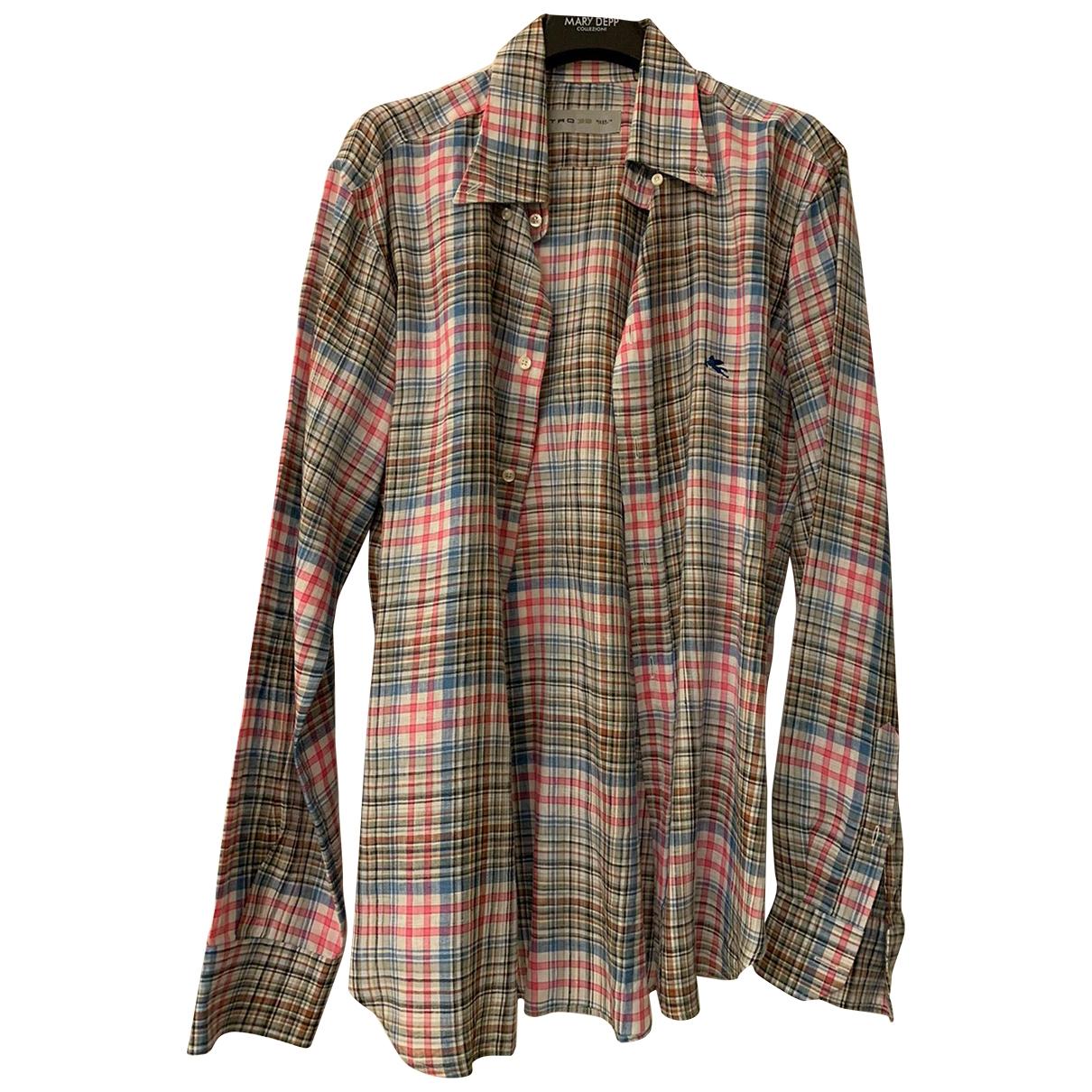 Etro - Chemises   pour homme en coton - multicolore