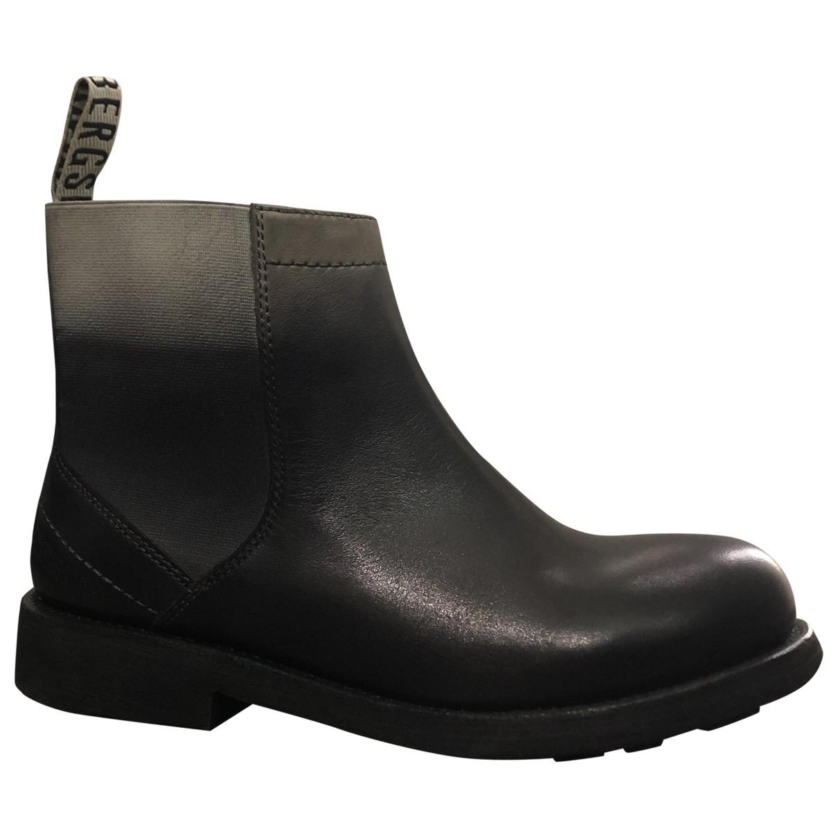 Dirk Bikkembergs - Boots   pour femme en cuir - noir