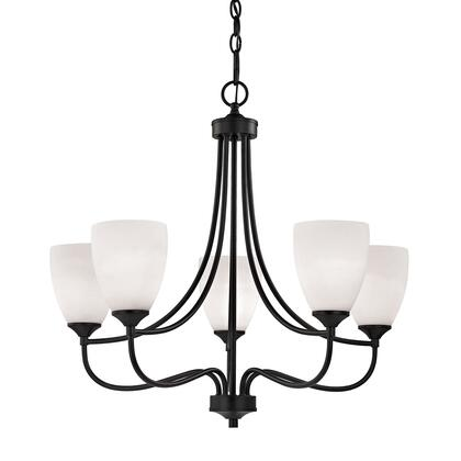 2005Ch/10 Arlington 5 Light Chandelier In Oil Rubbed