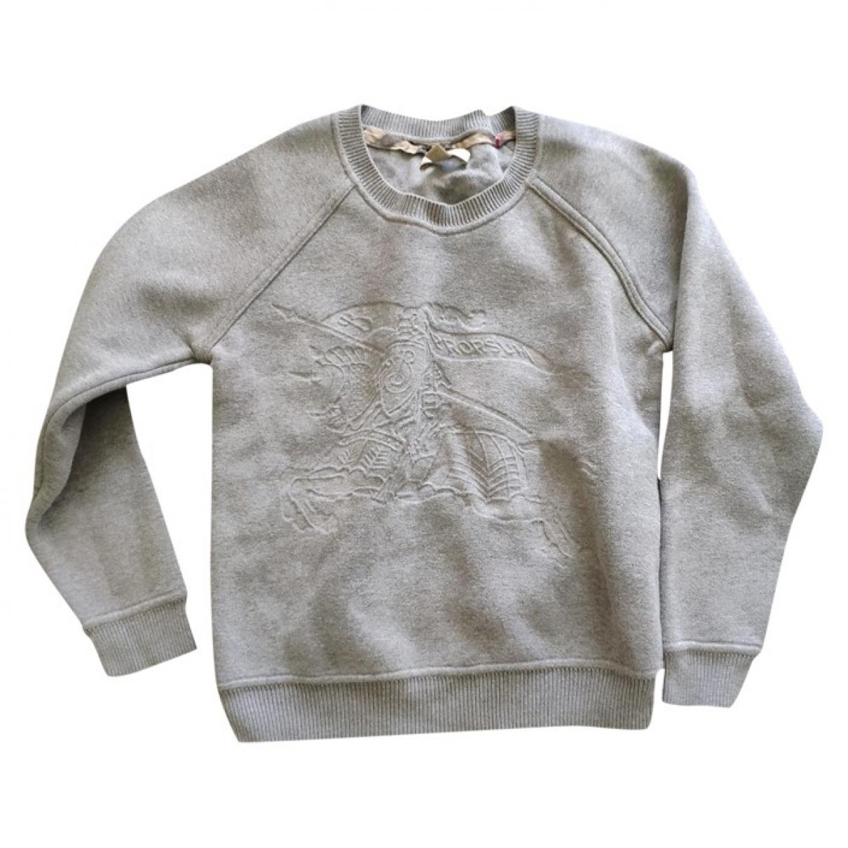 Burberry \N Pullover in  Grau Baumwolle