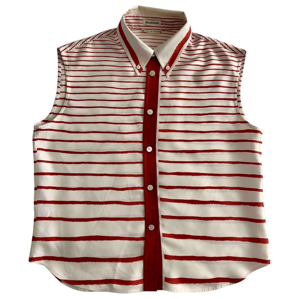 Hermès \N Ecru Silk  top for Women 42 FR