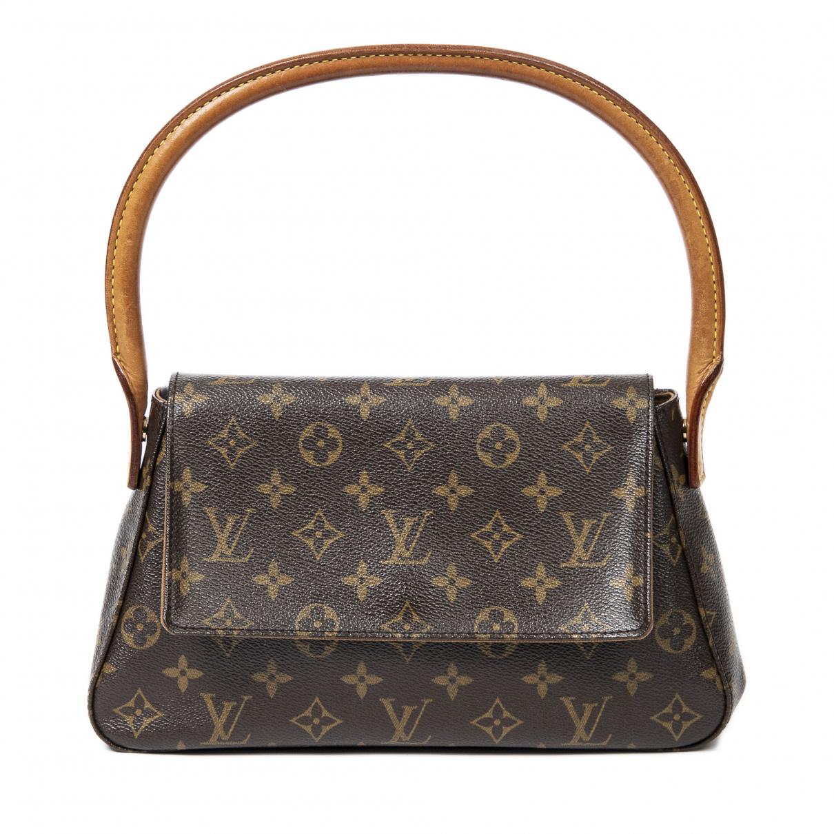 Louis Vuitton Looping Brown Cotton handbag for Women \N